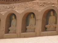 for those who are dissapointed for not seeing any Buddha statues in the 1000 Buddhas grottos, there is a recreation nearby...