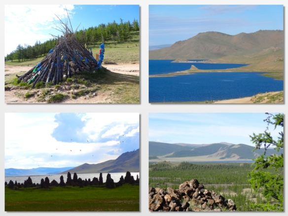 volcanic lake mongolia
